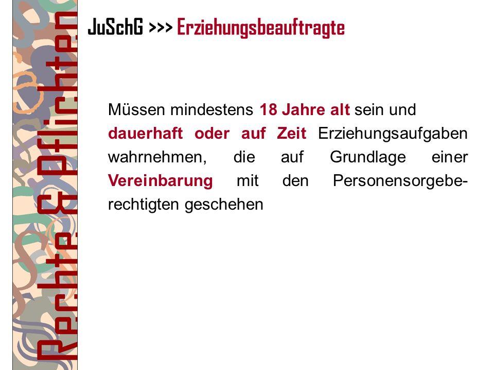 JuSchG >>> Erziehungsbeauftragte