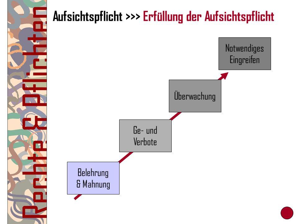 Aufsichtspflicht >>> Erfüllung der Aufsichtspflicht