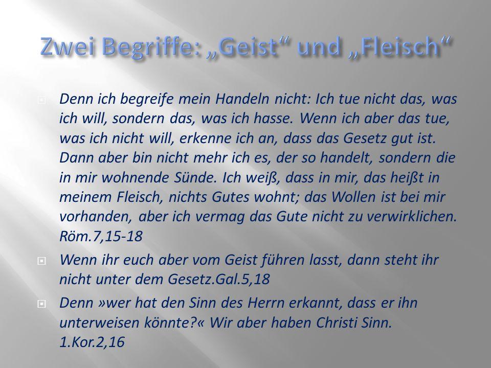 """Zwei Begriffe: """"Geist und """"Fleisch"""