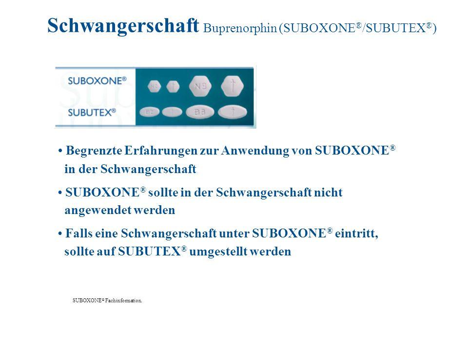 Schwangerschaft Buprenorphin (SUBOXONE®/SUBUTEX®)