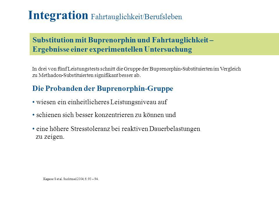 Integration Fahrtauglichkeit/Berufsleben