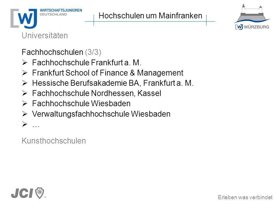 Hochschulen um Mainfranken