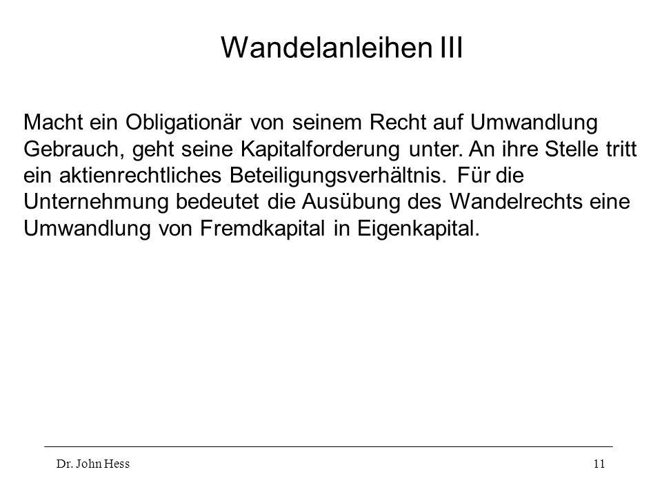 Wandelanleihen III