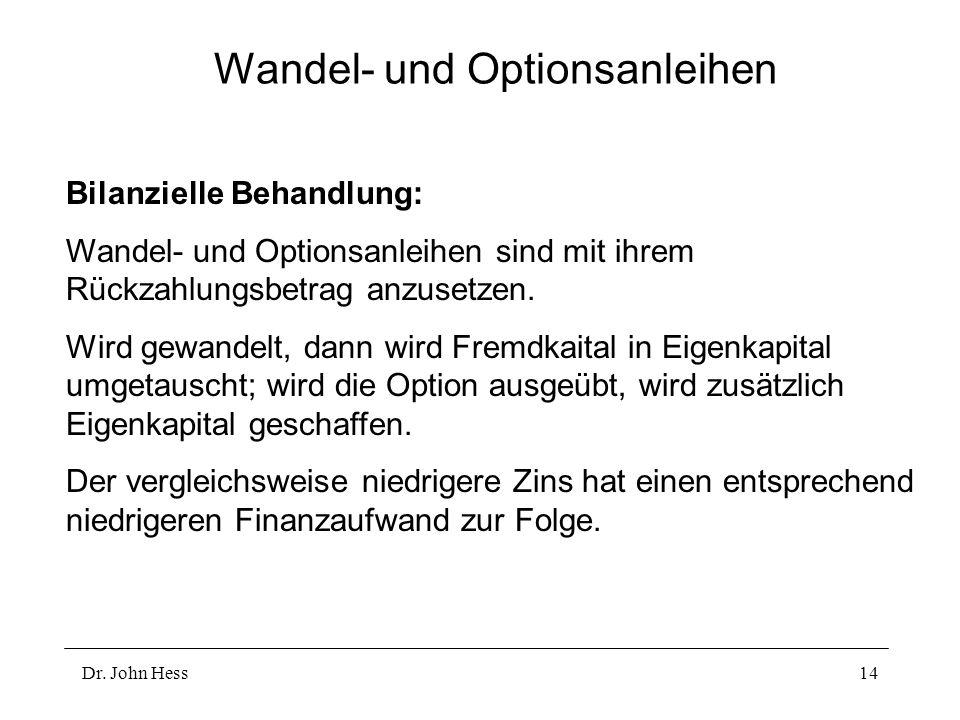 Wandel- und Optionsanleihen