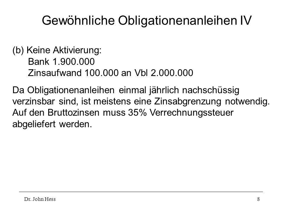 Gewöhnliche Obligationenanleihen IV
