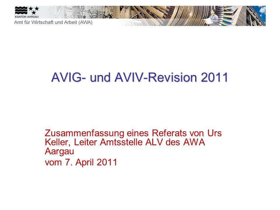 AVIG- und AVIV-Revision 2011
