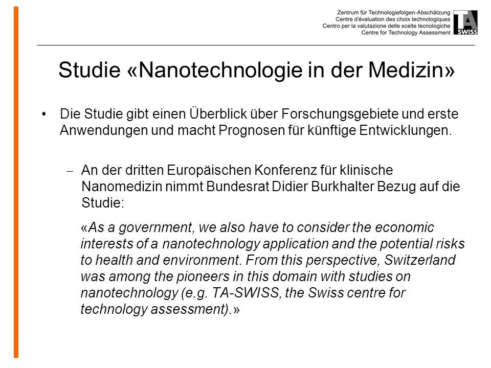 Studie «Nanotechnologie in der Medizin»