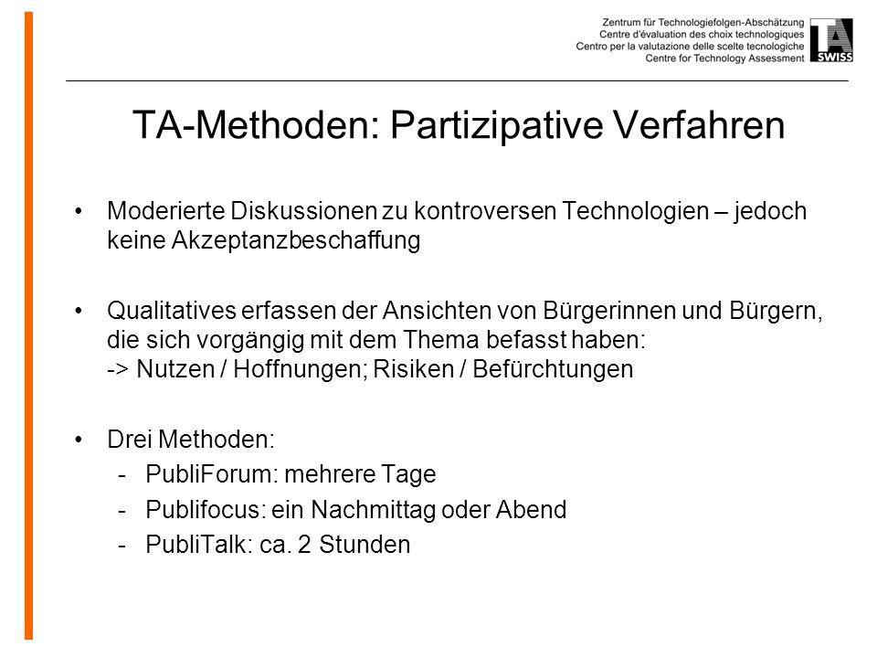 TA-Methoden: Partizipative Verfahren