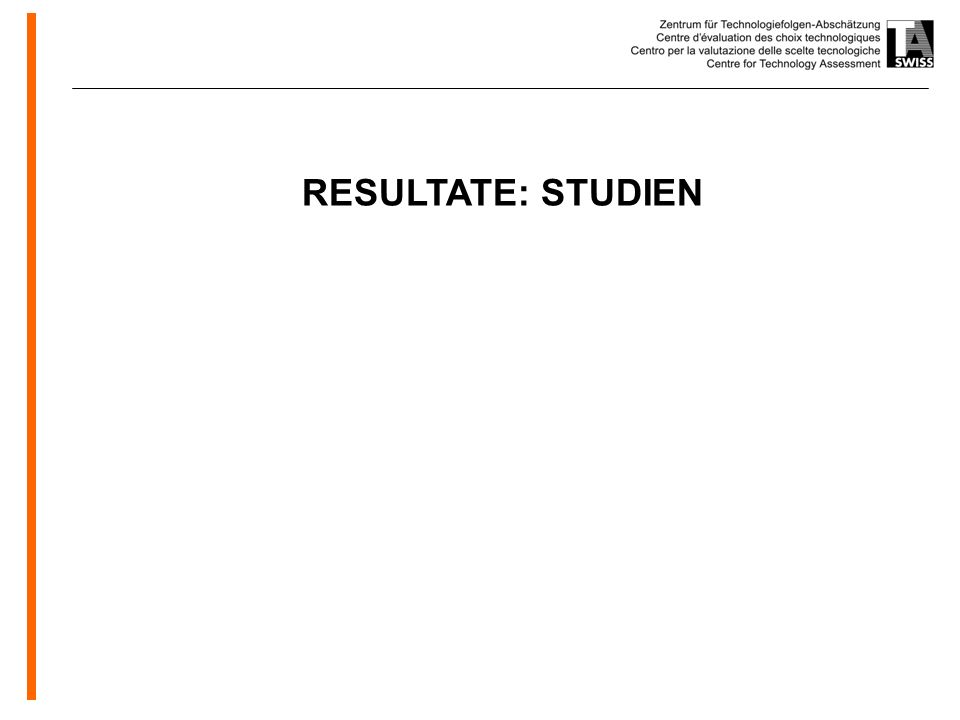 RESULTATE: STUDIEN
