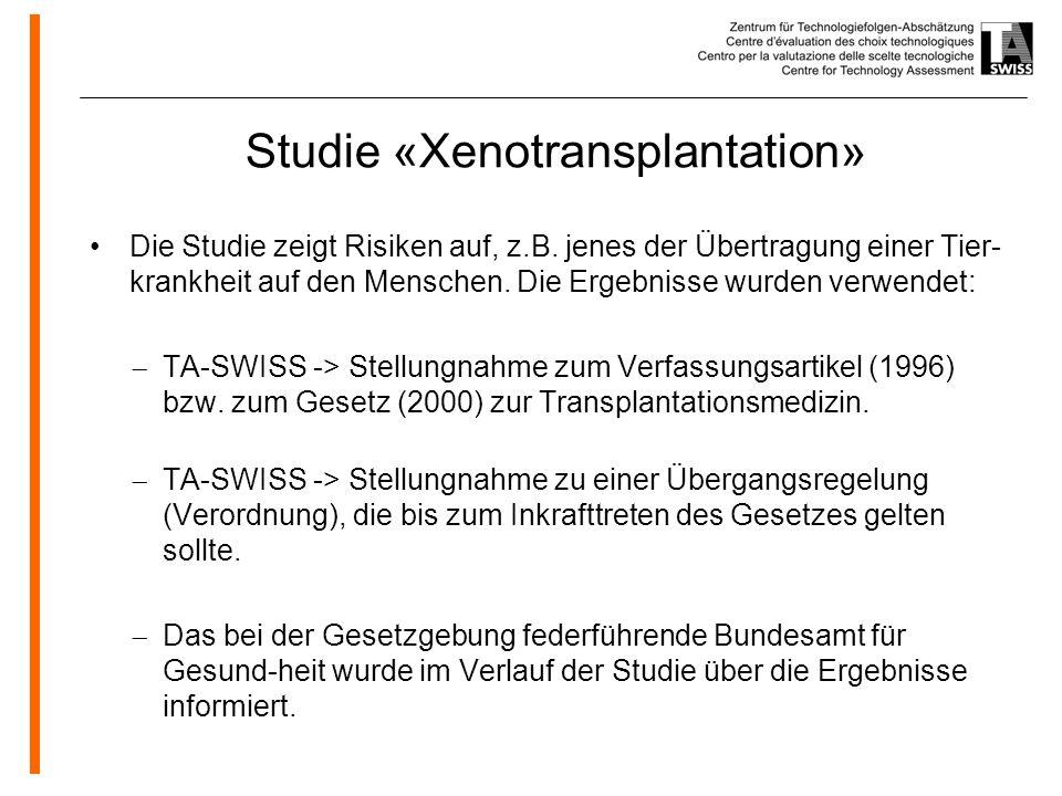 Studie «Xenotransplantation»