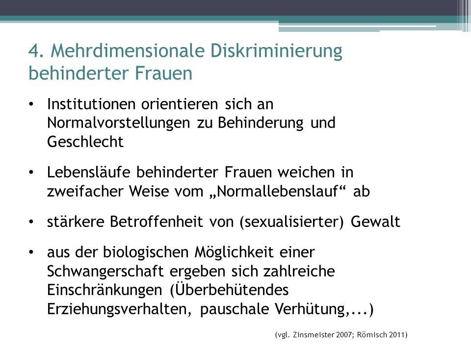 4. Mehrdimensionale Diskriminierung behinderter Frauen