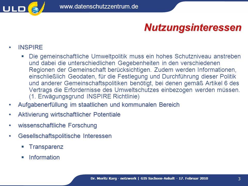 Dr. Moritz Karg - netzwerk | GIS Sachsen-Anhalt - 17. Februar 2010