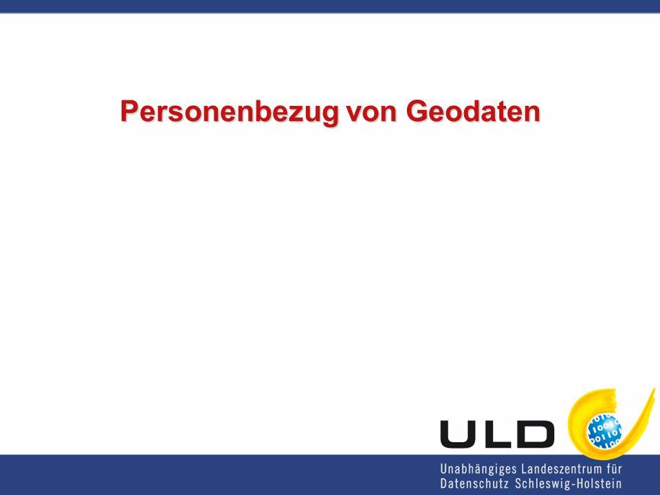 Personenbezug von Geodaten
