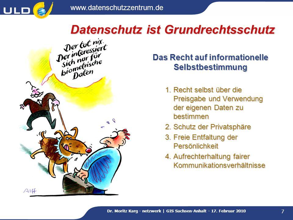 Datenschutz ist Grundrechtsschutz
