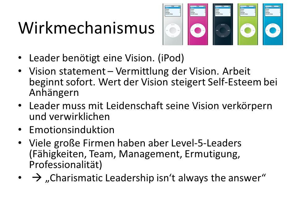 Wirkmechanismus Leader benötigt eine Vision. (iPod)