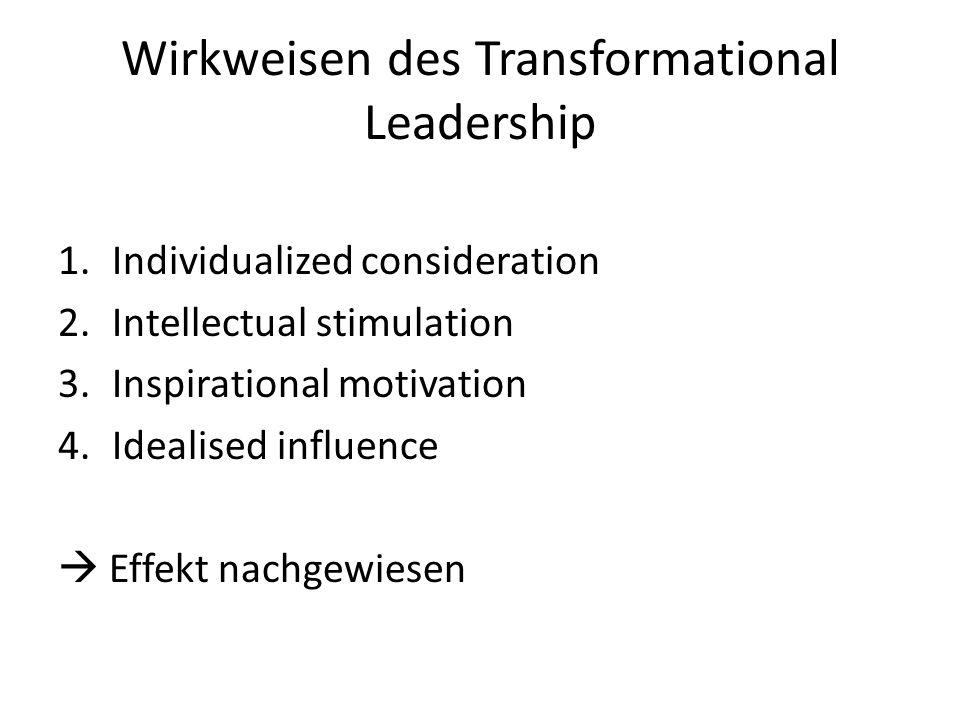 Wirkweisen des Transformational Leadership