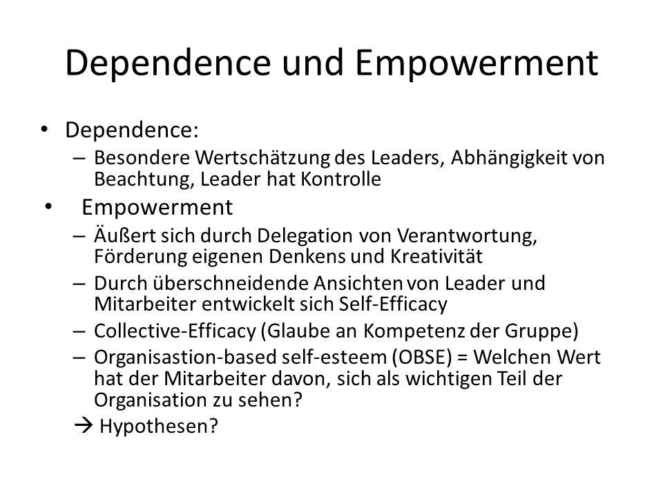 Dependence und Empowerment