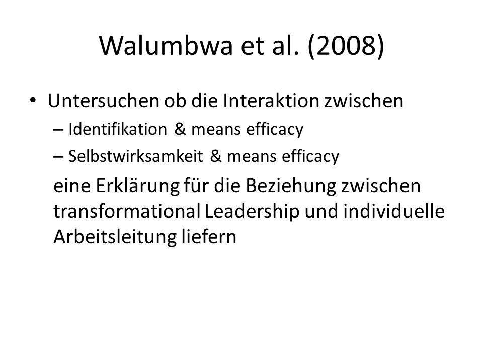 Walumbwa et al. (2008) Untersuchen ob die Interaktion zwischen