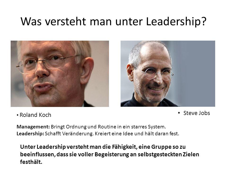 Was versteht man unter Leadership