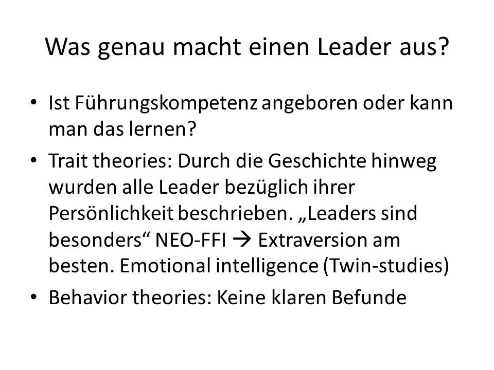 Was genau macht einen Leader aus