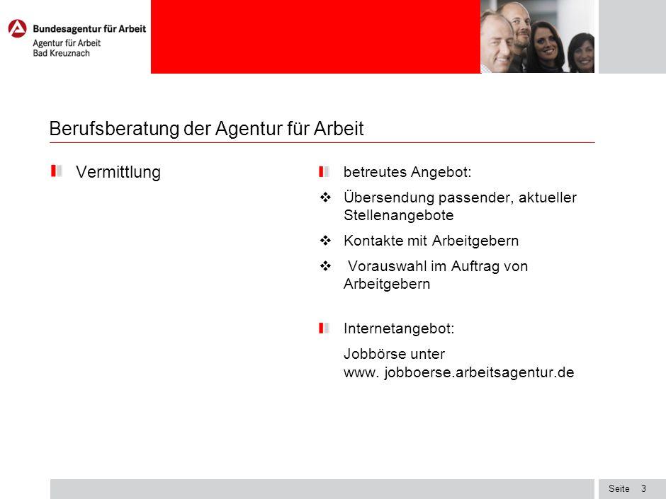 Berufsberatung der Agentur für Arbeit