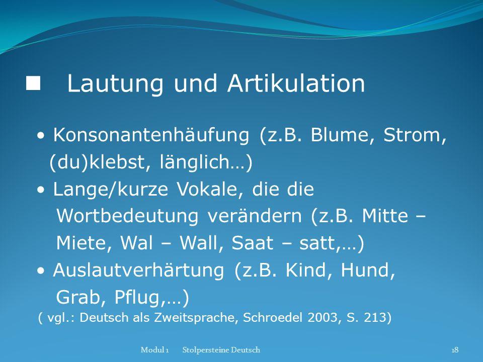  Lautung und Artikulation