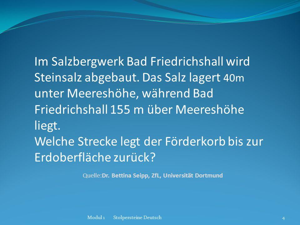 Im Salzbergwerk Bad Friedrichshall wird Steinsalz abgebaut