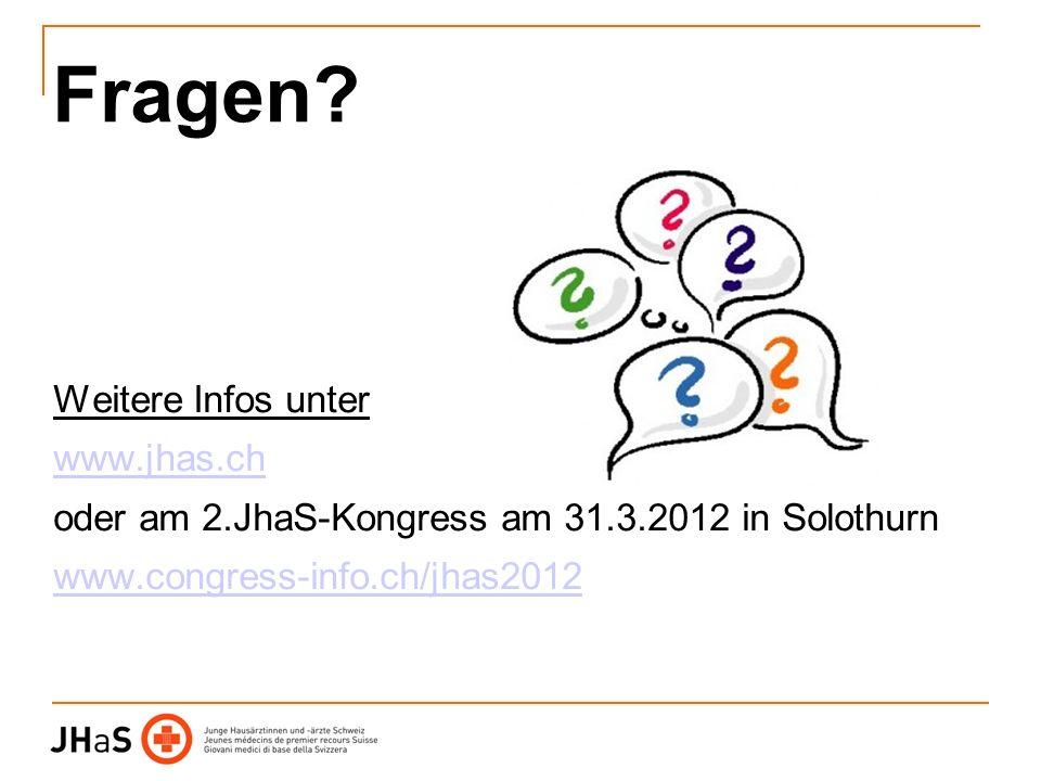 Fragen Weitere Infos unter www.jhas.ch