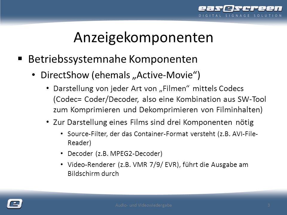 Audio- und Videowiedergabe