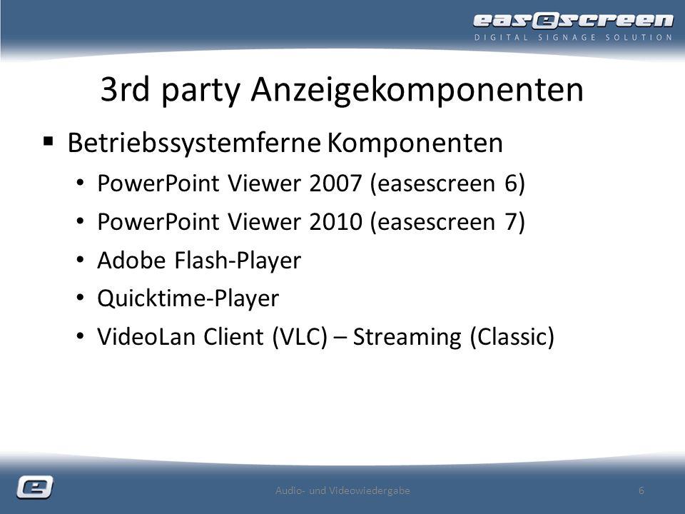 3rd party Anzeigekomponenten