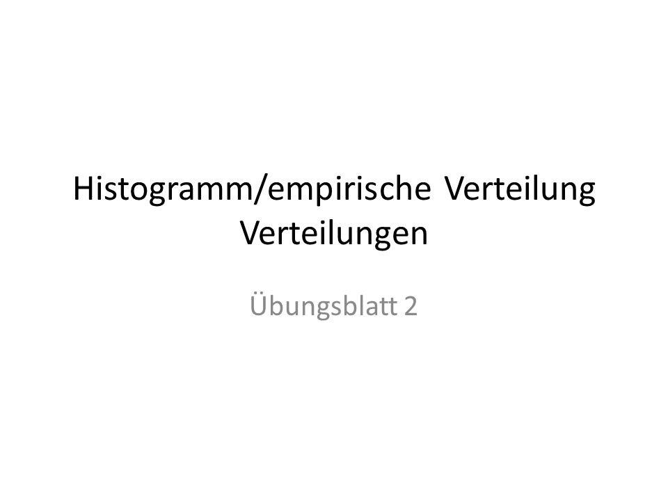 Histogramm/empirische Verteilung Verteilungen