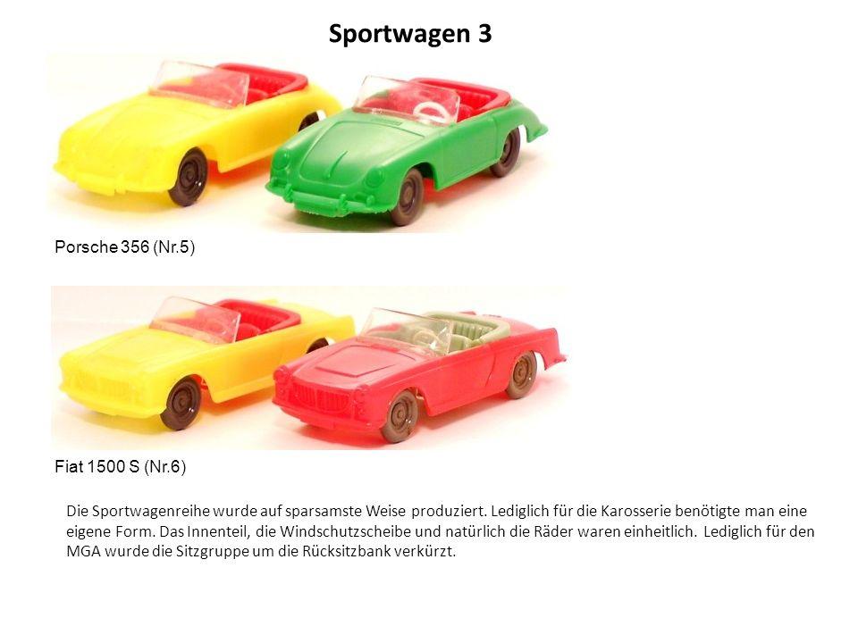 Sportwagen 3 Porsche 356 (Nr.5) Fiat 1500 S (Nr.6)
