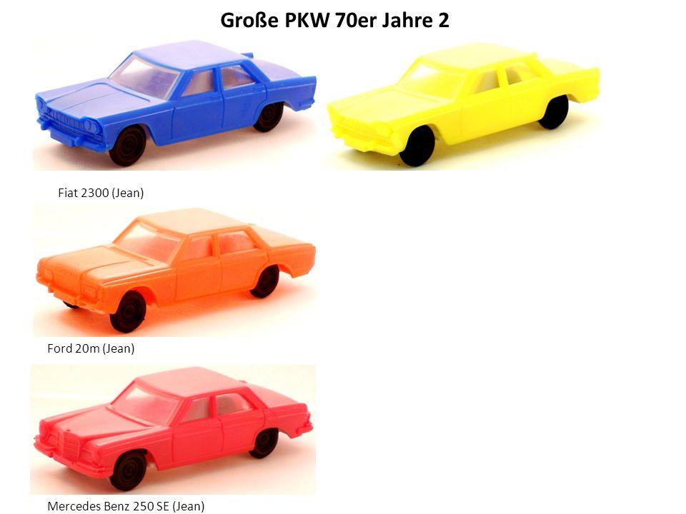 Große PKW 70er Jahre 2 Fiat 2300 (Jean) Ford 20m (Jean)