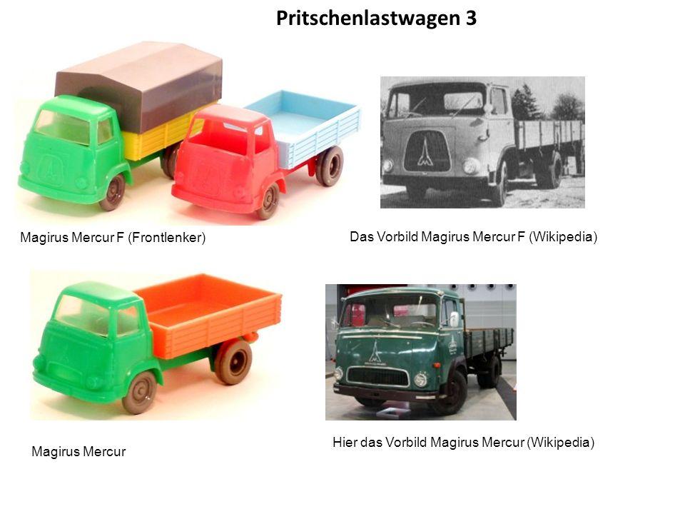 Pritschenlastwagen 3 Magirus Mercur F (Frontlenker)