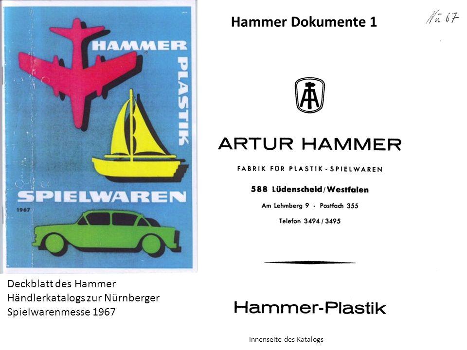 Hammer Dokumente 1 Deckblatt des Hammer Händlerkatalogs zur Nürnberger Spielwarenmesse 1967.