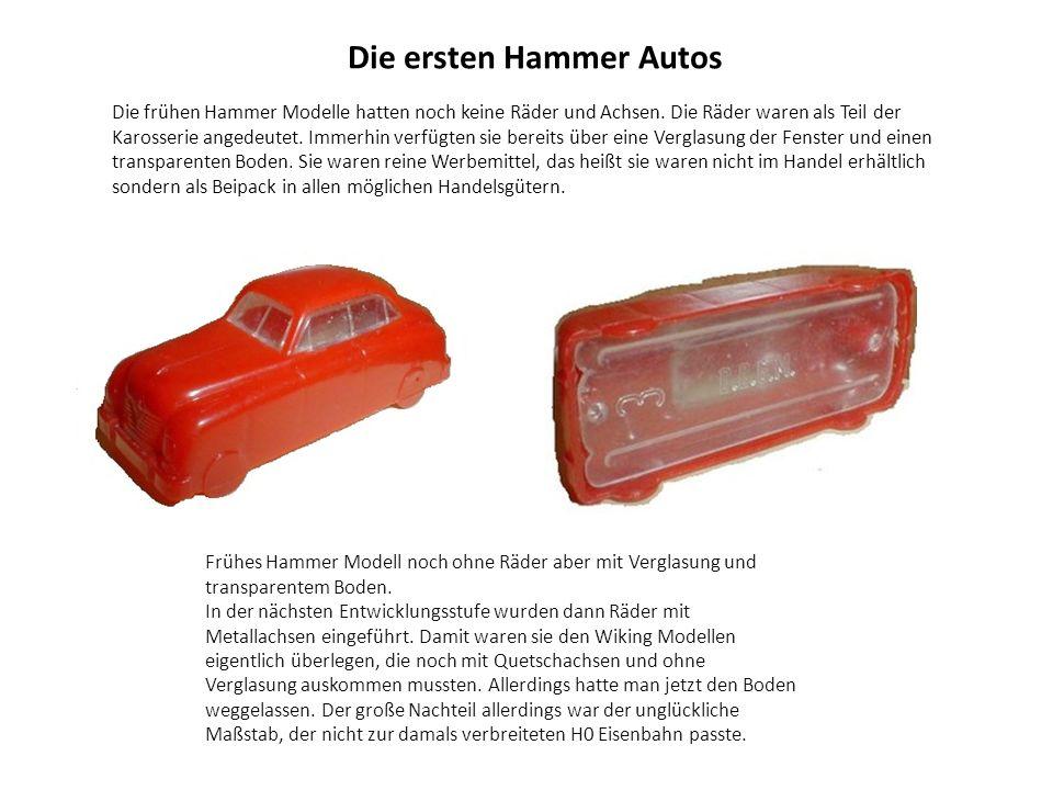 Die ersten Hammer Autos