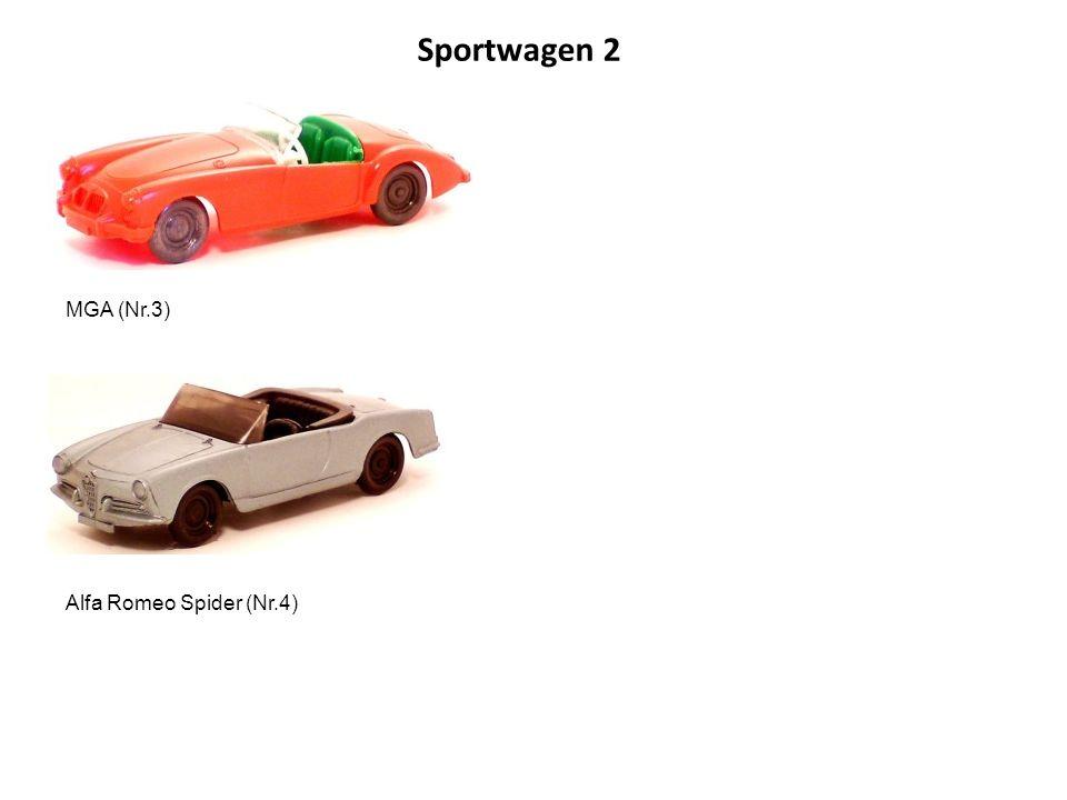 Sportwagen 2 MGA (Nr.3) Alfa Romeo Spider (Nr.4)