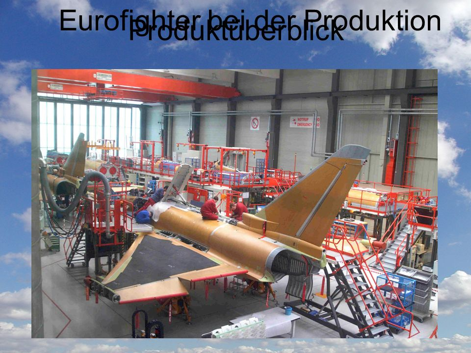 Eurofighter bei der Produktion