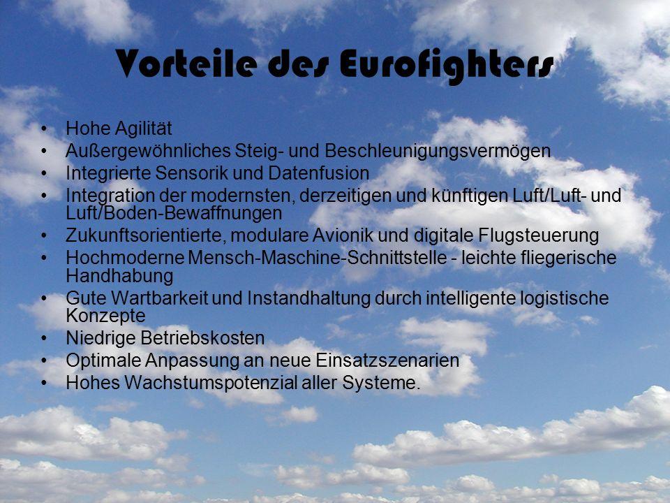 Vorteile des Eurofighters