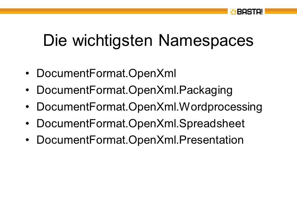 Die wichtigsten Namespaces
