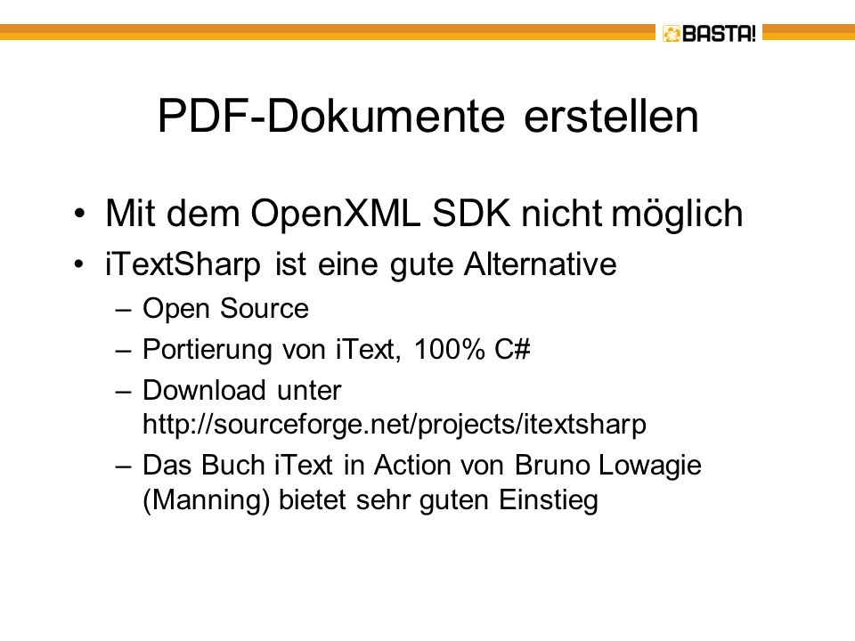 PDF-Dokumente erstellen