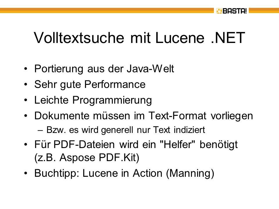 Volltextsuche mit Lucene .NET