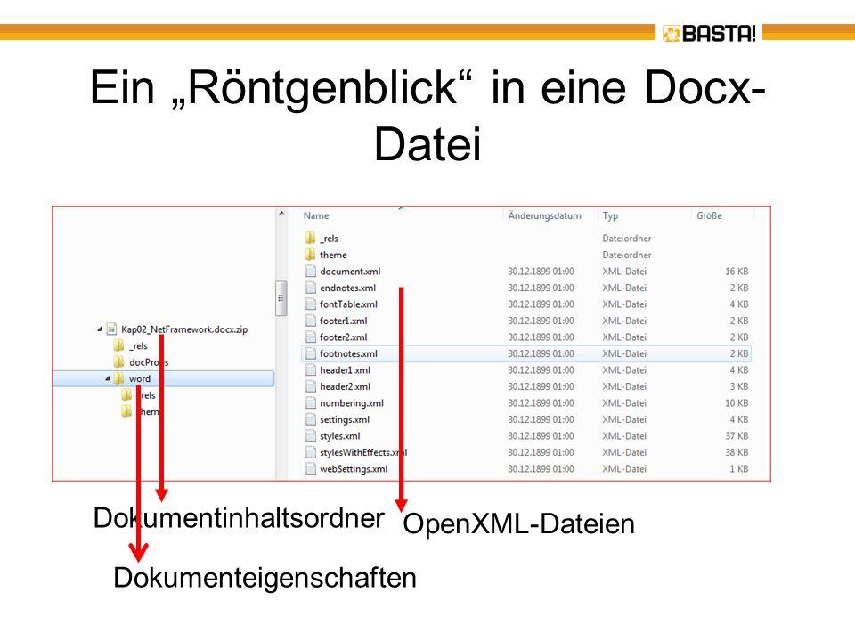 """Ein """"Röntgenblick in eine Docx-Datei"""