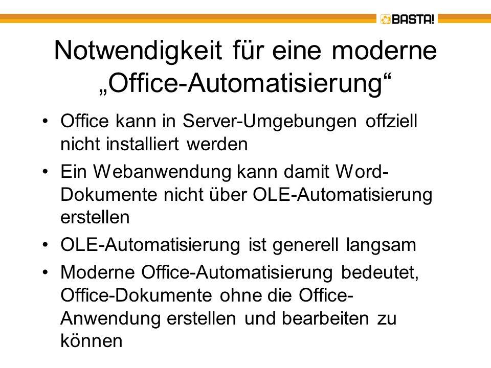 """Notwendigkeit für eine moderne """"Office-Automatisierung"""