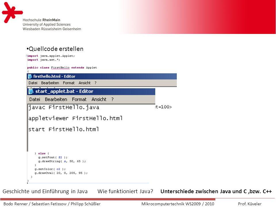 Java-Klasse erstellen / Java starten