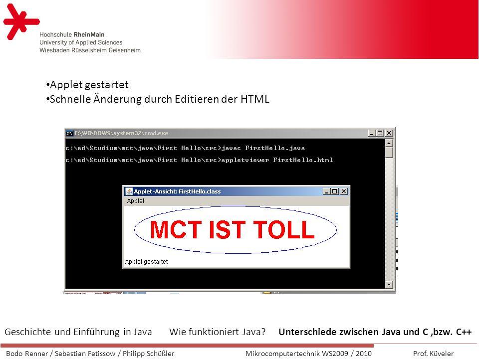 Schnelle Änderung durch Editieren der HTML