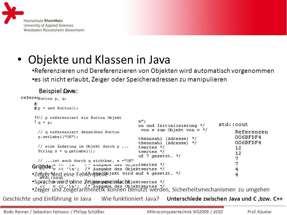 Objekte und Klassen in Java