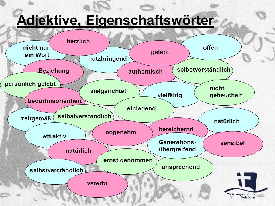 Adjektive, Eigenschaftswörter