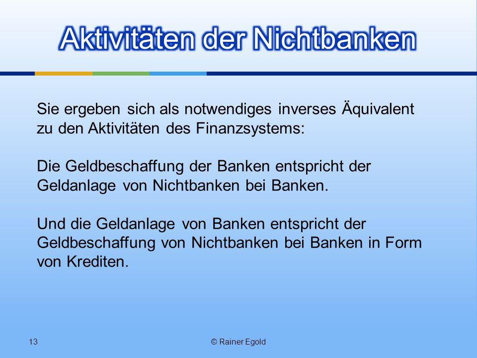 Aktivitäten der Nichtbanken