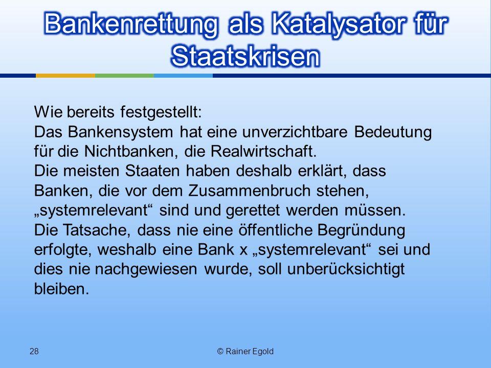 Bankenrettung als Katalysator für Staatskrisen